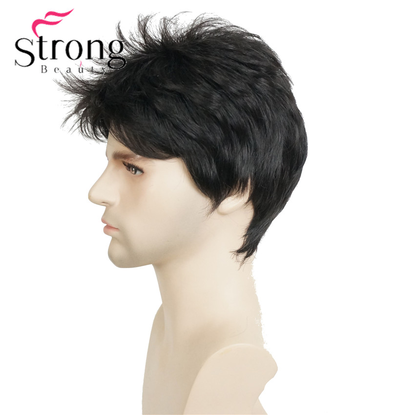 E-1733A #2 black short wig (4)