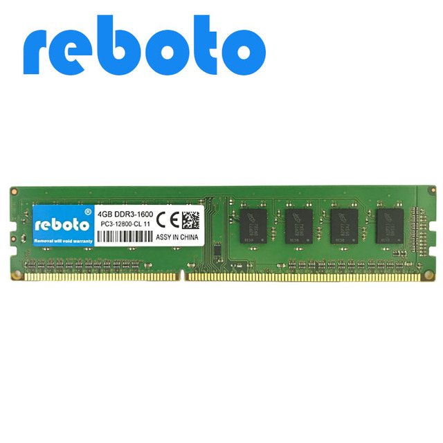 US $17 63 57% OFF|Reboto DDR3 4GB 1333MHz PC3 10600 for Desktop RAM Memory  240pin compatible with for Intel and AMD Motherboard 1 5V-in RAMs from