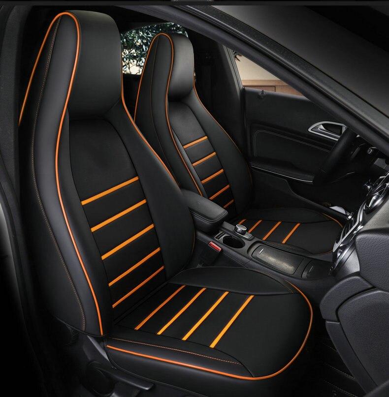 Personalizada De Couro tampa de assento do carro para auto Mercedes-Benz gla200 gla260 cla200 cla 220 cla260 UM 180 A200 auto acessórios do carro styling