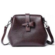 Loeil Personalized Pocket Bag First Layer Leather Shoulder Nurse Elephant Pattern Handbag