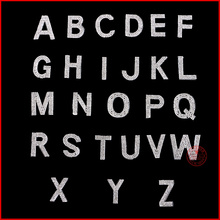 1 pcs/Lot Accessories rhinestones heat transfer iron on DIY motifs New English alphabet N motif hot fix rhinestone,