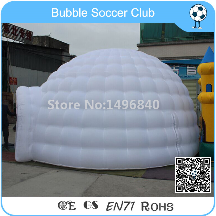 все цены на Free Shipping 5x5x3 Meter Outdoor LED Inflatable Dome Tent For Sale Inflatable Igloo Tent