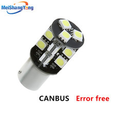 1156 BA15S 44 SMD White CANBUS OBC No Error led lamp p21w R5W car bulbs Turn Signal Lights Car Light Source parking 12V LED