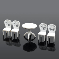 Petal Shaped Chairs 1 Set Construction Sand Table Model Material