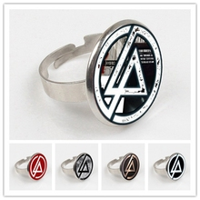 2019 Hot Fashion Linkin Park logo ring Linkin Park Jewelry Glass ring Dome ring Men and children party gifts linkin park the hunting party
