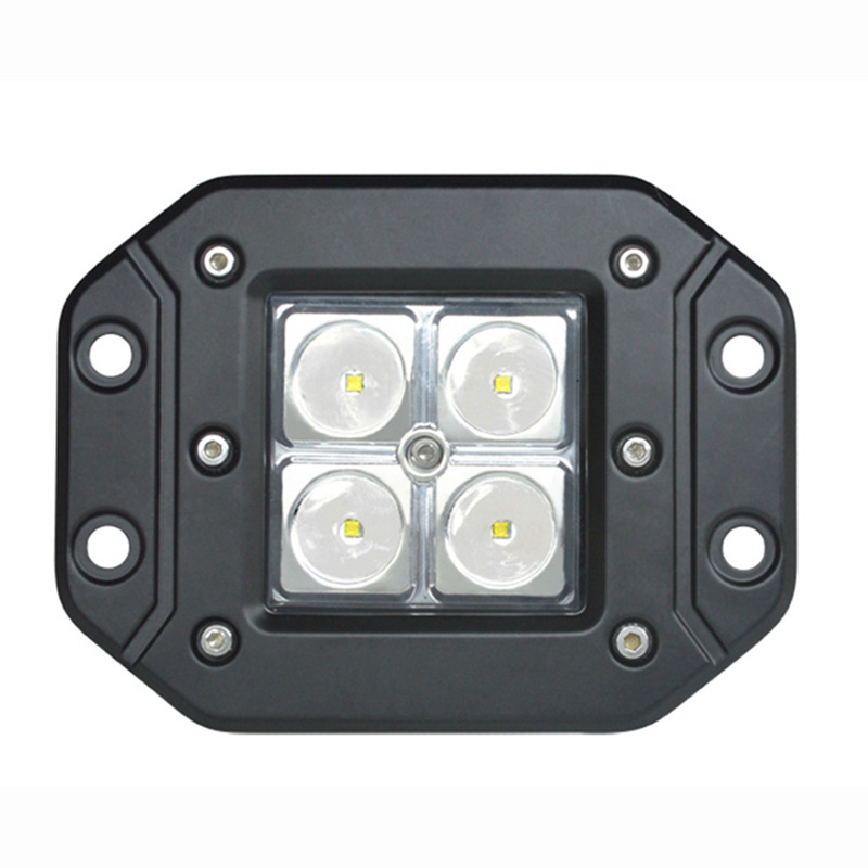 Promosyon 2 ADET offroad Sürüş Lambası 16 W 4 inç LED İş Işık nokta ışın Motosiklet Traktör Tekne Offroad 4WD Kamyon iyi için fiyat