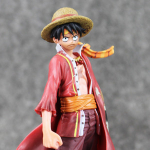 Image 2 - Anime Een Stuk Monkey D Luffy De Ultieme Koning Ver. Rode Mantel Pvc Action Figure Op Luffy Collectible Model Toy 18 Cm