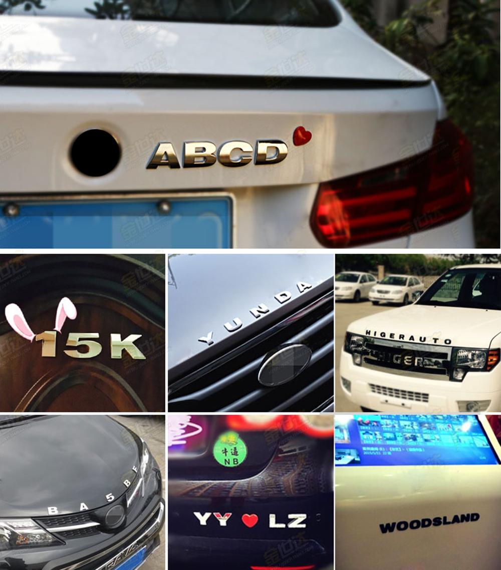 HTB1VflMQFXXXXbmXFXXq6xXFXXXX - 25mm Car Auto Chrome Metal DIY 3D ARC Letters Digital Alphabet Emblem