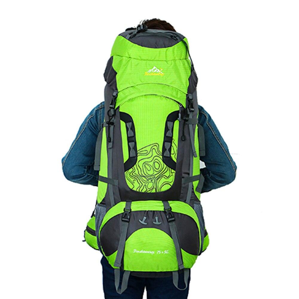 100% haute qualité 80L grande capacité randonnée sac à dos escalade sac extérieur voyage sac à dos Camping équiper Trekking sac à dos hommes femmes