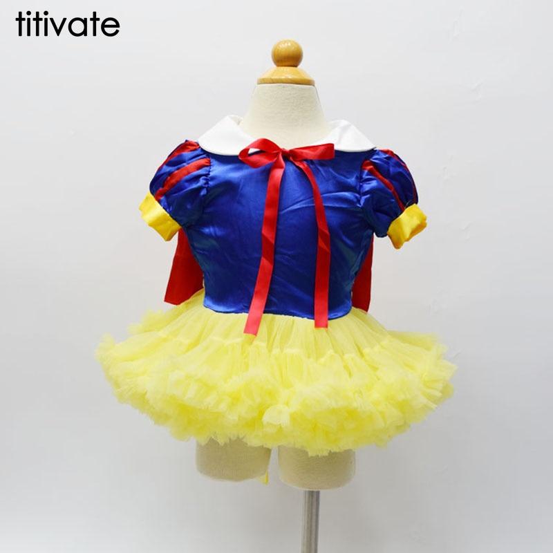 TITIVATE Children Girls Snow White Ballet Dress Tutu Dress Fairy Dress Fancy Stage Performance One-piece S-2XL