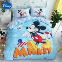 3f336dc226 DISNEY mickey mouse consolador colcha de cama definir o tamanho gêmeo capa  para crianças menino cama