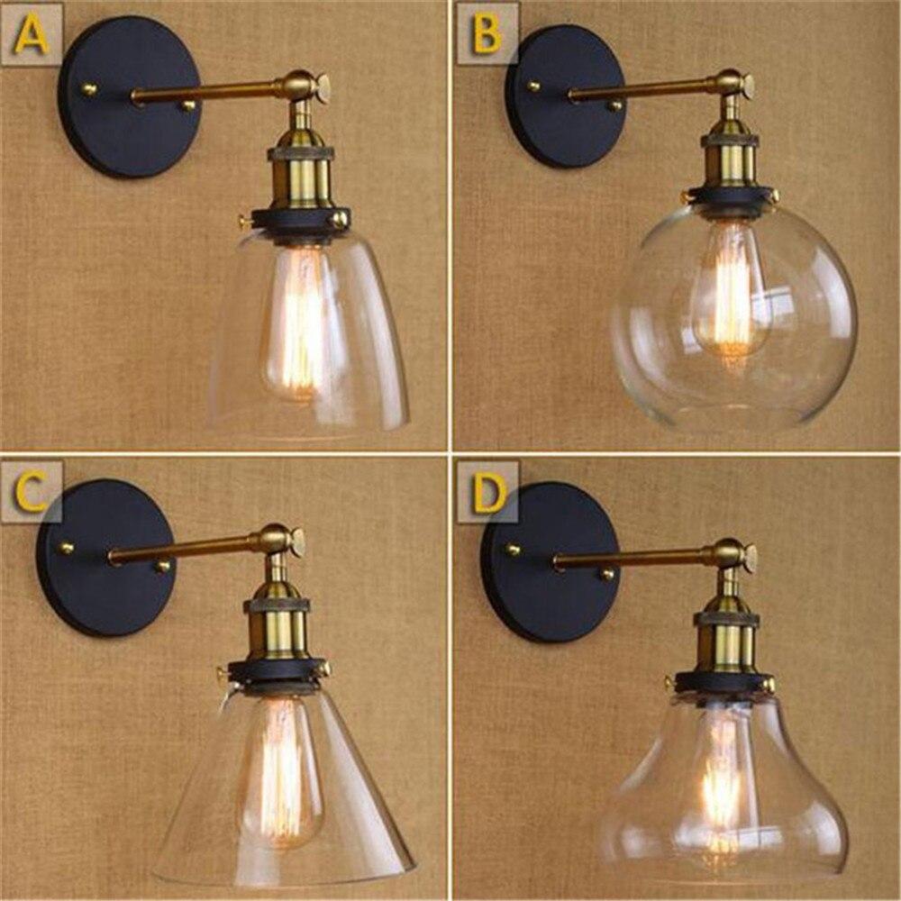 Liberal Loft Vintage Industrielle Edison Wand Lampen Klar Glas Wandleuchte Lager Wand Leuchten E27 110 V/220 V Nacht Beleuchtung Wandleuchten
