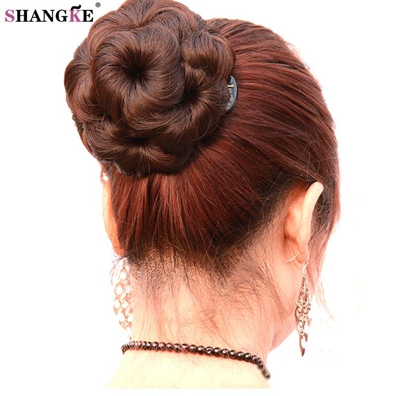SHANGKE kilenc virág haj farok karom haj darabok hőálló szintetikus frizurák hamis haj farok nők 5 szín elérhető