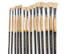 חוזק גבוה יוקרה 13 יחידות שיער ניילון מברשת סט צבעי מים ציור שמן מתווה סוג אוהד זנב דג נוף צבע כתיבה מברשת