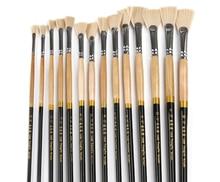 Alta resistência 13 pçs luxo náilon cabelo pintura a óleo escova conjunto aquarela paisagem peixe cauda ventilador tipo esboço pintura escrita escova