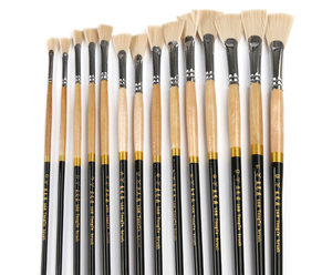 Image 1 - High Strength 13pcs Luxury Nylon Hair Oil Painting Brush Set Watercolor Landscape Fish Tail Fan Type Outline Paint Writing Brush