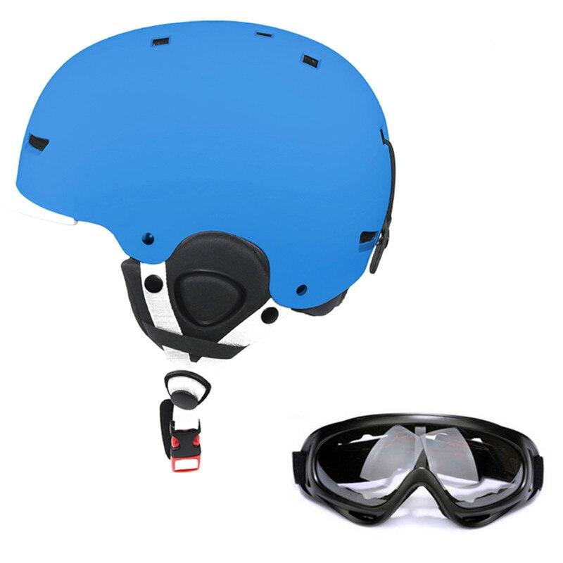 Половина покрытые Лыжный Спорт Шлем интегрального-формованные Открытый Спортивные очки Лыжный Спорт Велоспорт шлем катание сноуборд мног...
