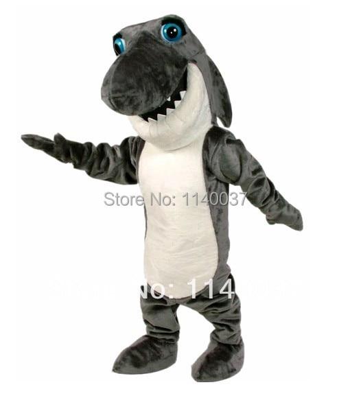 mascot Dark Grey Johnny Jaws Shark Mascot Costume Cartoon Character carnival costume fancy Costume party