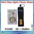 De CATV tv YJ320C - 50 ~ 26dBm portátil Mini fibra óptica Power Meter
