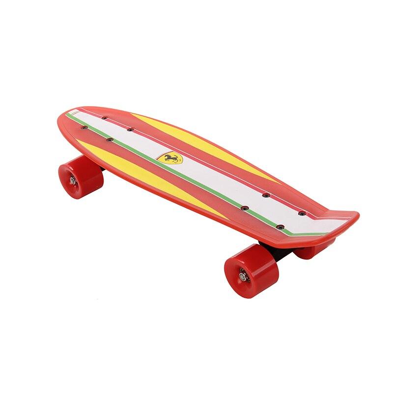 Poissons Planche À Roulettes Planche À Roulettes à Quatre roues Rue Banane Long Mini Cruiser Poissons Skate Board pour Enfants