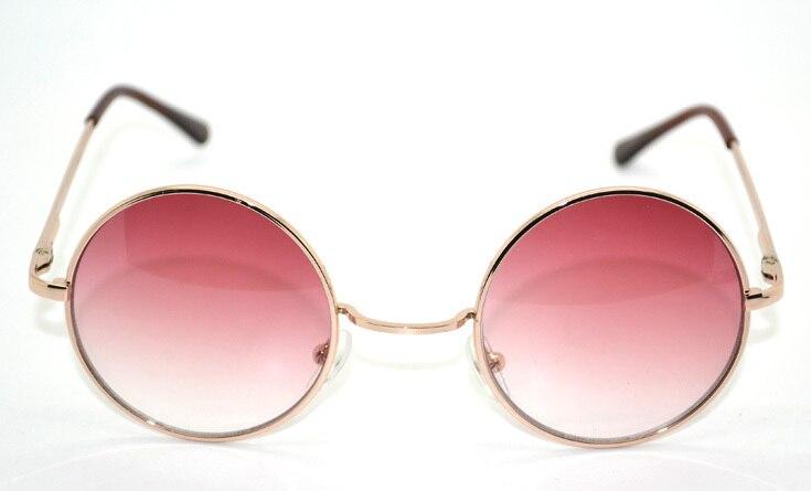 HARAJUKU street pink gradient circle sunglasses prince's mirror glasses