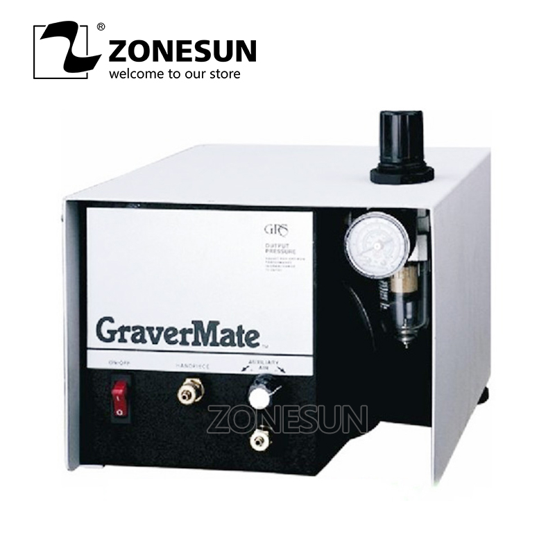 ZONESUN Pneumatic Jewelry Engraving Machine Single Ended Graver Mate Graver Tool Jewelry Engraver