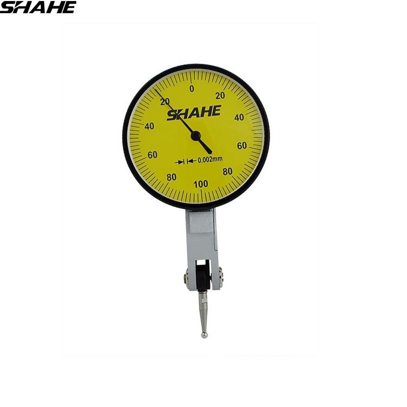 SHAHE 0-0.2mm Precision Dial Indicator dial test indicator 0.002 mm dial test indicator gauge guanglu dial indicator 0 0 8mm 0 01mm dial test indicator dial test gauge measurement instrument measure tools
