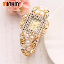 MINHIN Wholesale Lady Noble Bangle Watch Crystal Geneva Quartz Watches