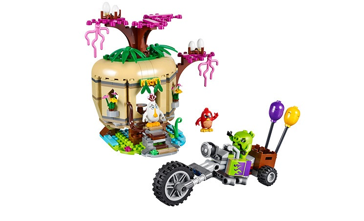 BELA Bird Island Egg Heist Bu Building Blocks Sets Bricks Birds Model Kids Classic Toys For Children Compatible Legoings friends 449pcs bela 10295 laval s fire lion model diy building blocks for children sets classic bricks toys compatible with lego