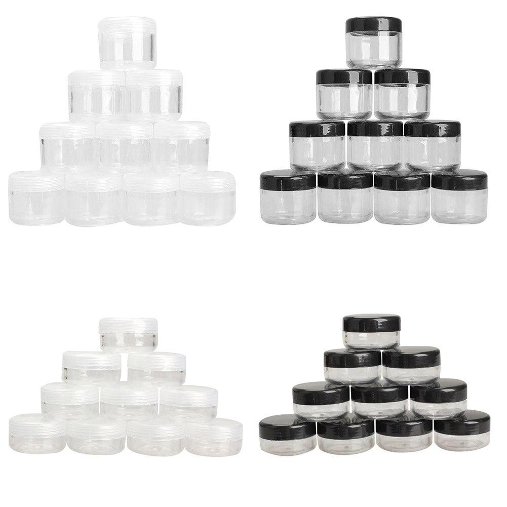 10Pcs Plastic Empty Box Nail Art Cosmetic Bead Gems Storage Case Bottle Pot J2Y