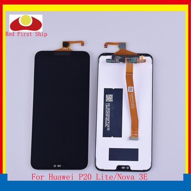"10 adet/grup 5.84 ""Huawei P20 Lite lcd ekran dokunmatik ekranlı sayısallaştırıcı grup Nova 3E lcd ekran Komple ANE LX1"