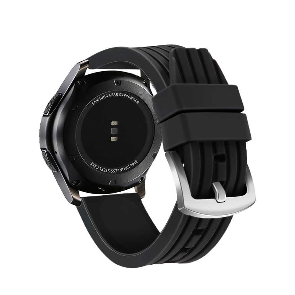 سيليكون حزام ل Amazfit bip سامسونج جير S3 الفرقة الحدود حزام ل Gear S3 الكلاسيكية الساعات 22 مللي متر سوار ساعة ذكية