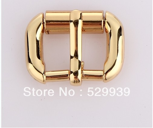 24K gold die-casting buckles 17(5/8'')*10mm webbing turnbuckle zinc alloy square pin buckle bags/belts accessory 10 5 8 5 24 871580