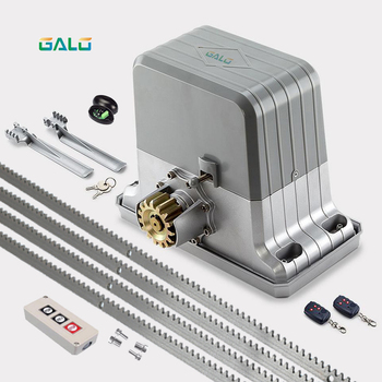 Heavy duty automatic electric sliding gate door motor engine opener with 4m racks (remotr control QTY/sensor/button optional) image