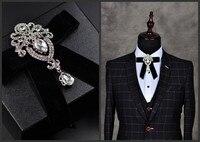2018 nuevo metal de la pajarita pajaritas para los hombres de la boda de negocios de vino rojo al por mayor accesorios corbata mariposas negras mal