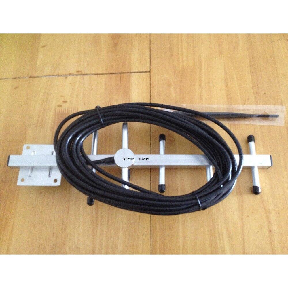 imágenes para 5 unidad 8db 806-960 MHz antena Yagi con 10 m de cable de antena INTERIOR N conector macho para GSM CDMA repetidor de refuerzo