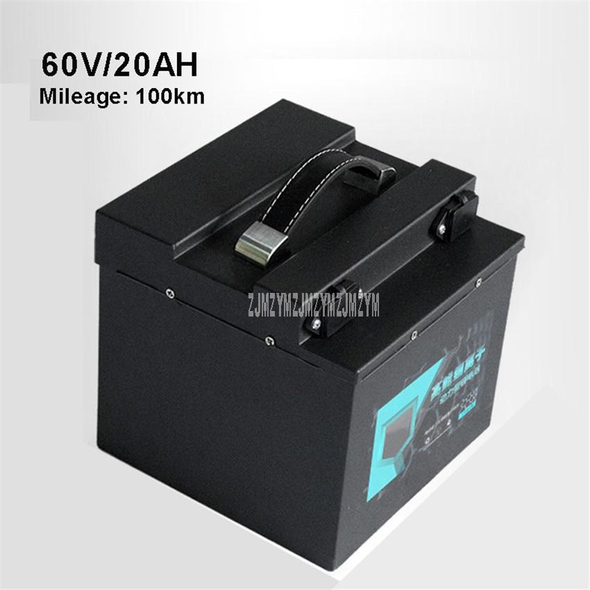 60 V 20AH Vélo Électrique 18650 Batterie Au Lithium Pour 800-1200 W Moteur Ebike Vélo Électrique Moto Batterie Max kilométrage 100 km