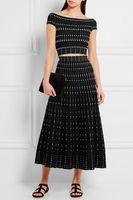 Жаккардовые платья повязки Высочайшее качество дамы HL модные элегантные Вечеринка платье сексуальный 2 шт. платье