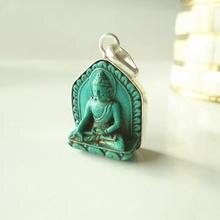 TBP684 тибетская глина скульптура Будды Подвески-Амулеты Карманный Будда Имитация бирюзы Будда тара ганьинь
