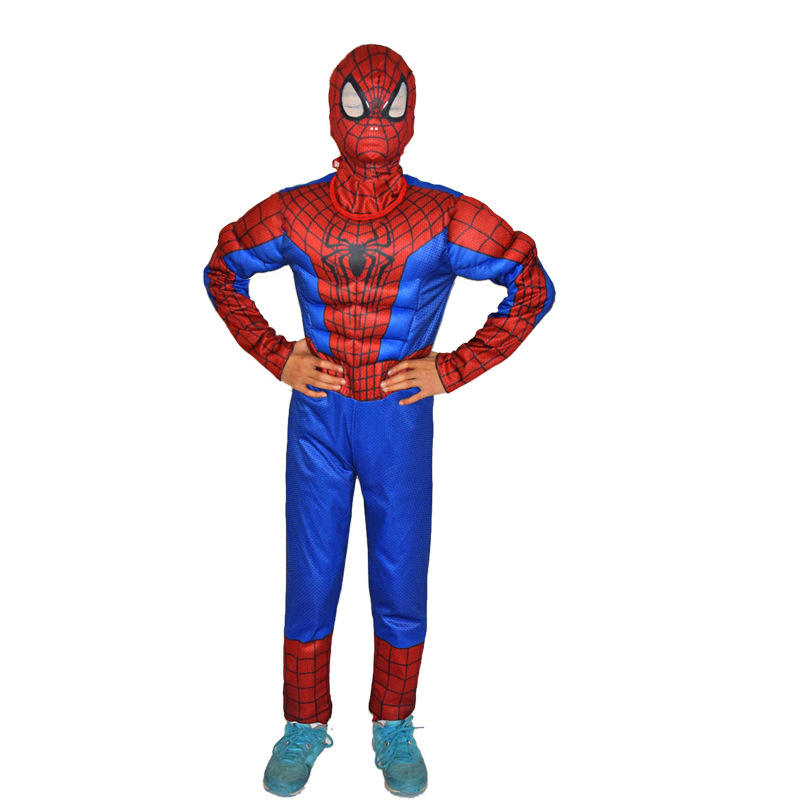<font><b>Spiderman</b></font> <font><b>Movie</b></font> <font><b>Classic</b></font> Muscle <font><b>Child</b></font> halloween <font><b>costume</b></font> for kids disfraces infantiles superheroes fancy dress