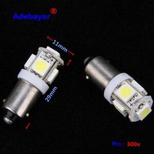 Image 1 - 300X T11 BA9S 5 SMD 5050 Led lampen 5SMD T4W 1445 Q65B H6W 182 53 57 Auto Indikatoren Licht innen Birne Keil Lampe 7 farbe