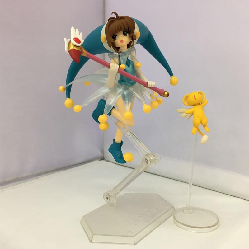Classic Card Captor Sakura Kinomoto Sakura: Clown Battle Costume ver. PVC Action Figure Collectible Model Toy 14cm gift 1set 14cm pvc japanese anime figure sakura kinomoto battle costume ver cardcaptor sakura figfix 008 action figure collectible