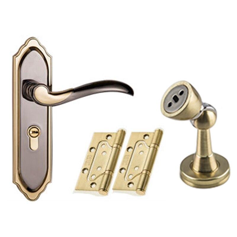 3515 Gray And Golden Color Modern Style Door Lock Bedroom Room Bathroom Lock  With Handle Lock In Door Handles From Home Improvement On Aliexpress.com ...