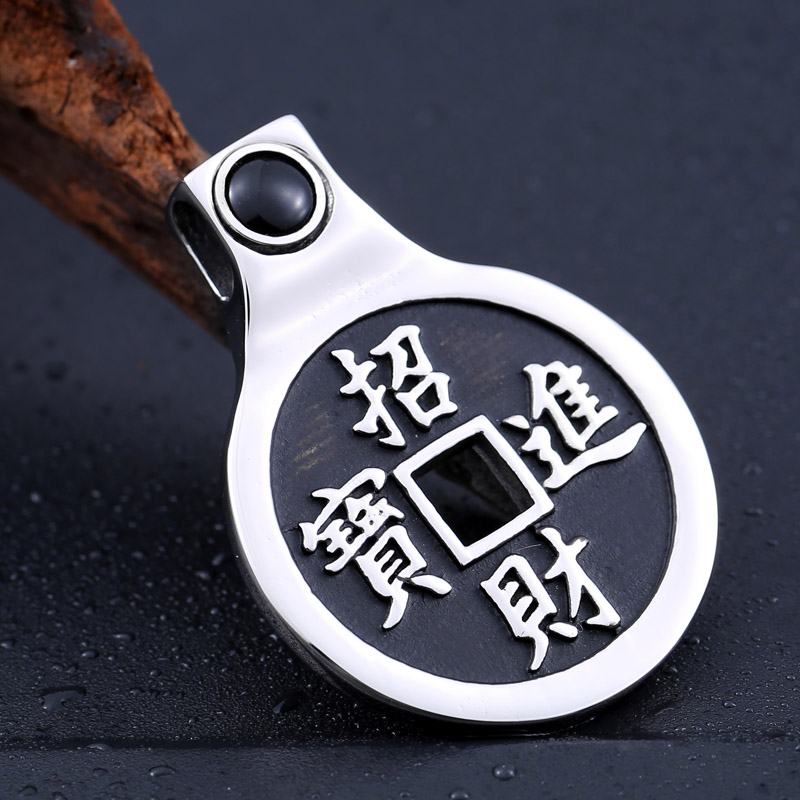 Beier new store 316L Stainless Steel pendant necklace Chinese style Tai Chi gossip luckly Fashion jewelry BP8-233