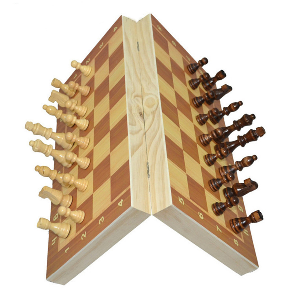 ⓪magnétique échecs En Bois Jeu Déchecs Chesspieces Pliage