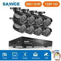 SANNCE 8CH 1080N домашняя система видеонаблюдения 5в1 HDMI с 8 шт. 720 P наружная непогоды камера видеонаблюдения домашний комплект системы видеонаблюд