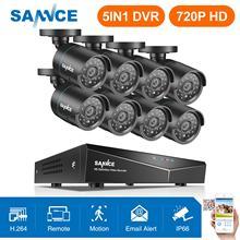 SANNCE 8CH 1080N CCTV дома системы скрытого видеонаблюдения 5IN1 HDMI с 8 шт. 720 P Открытый Всепогодный камера видеонаблюдения дома комплект системы видеонаблюдения