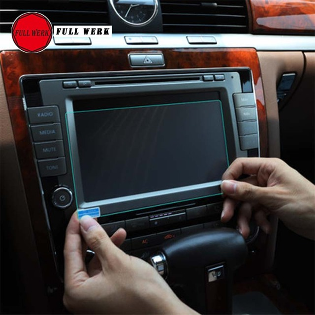 Anti-scratch Car Styling Navigation Tempered Glass Screen Protector Film Sticker for VW Phaeton Interior Accessories