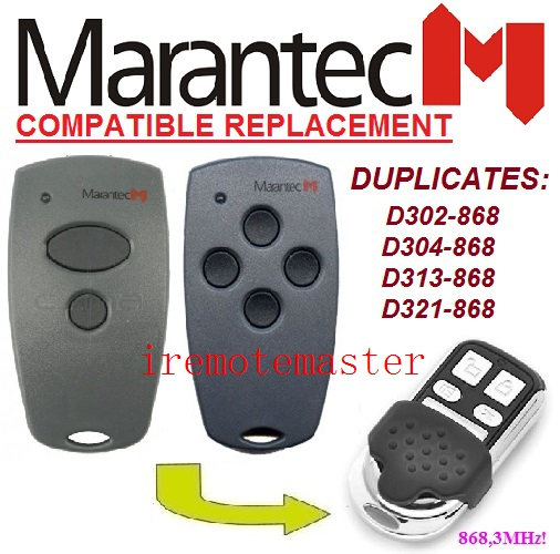 After market Marantec D302-868,D304-868,D313-868,D321-868 fixed code remote DHL free shipping top quality hormann marantec came faac replacement remote control 868 3mhz fixed code learning code