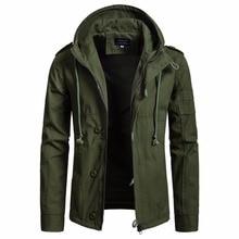 2018 Jacket Men Army Clothes Casual Tactical Windbreaker Winter Autumn Flight Pilot Coat Hoodie streetwear Hip hop